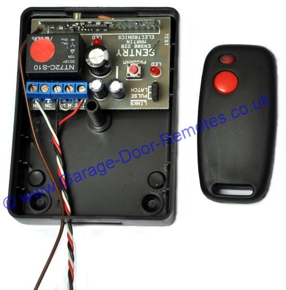 installation instructions sentry 433mhz garage door remote sen r r1 receiver sen r t1 keyfob cover removed